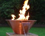 """24"""" Copper Round Fire and Water Bowl - Electric"""