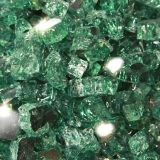 "10 lbs. Broken Style 1/2"" Evergreen Reflective Fire Glass"