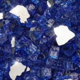 "10 lbs. Broken Style 1/2"" Cobalt Reflective Fire Glass"