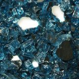 "10 lbs. Broken Style 1/2"" Pacific Blue Reflective Fire Glass"