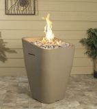Crest Fire Urn in Smoke Finish - Natural Gas