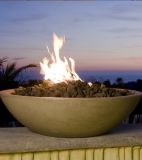 """40"""" Marseille Fire Bowl in Smoke Finish with AWEIS System - LP"""