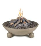 """40"""" Versailles Fire Bowl in Black Lava Finish with AWEIS System - NG"""