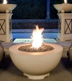 "48"" Fire Bowl in Black Lava Finish with AWEIS System - Natural Gas"