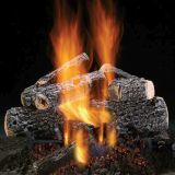 """Magnificent Charred Oak 18"""" Gas Logs with Safety Pilot - LP"""