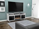 """Bowden Flat Panel TV Stand With 26"""" Crystal Fireplace insert"""