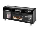 """Madie Flat Panel TV Stand With 26"""" Crystal Fireplace insert"""