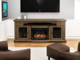"""Trayer Flat Panel TV Stand With 26"""" Crystal Fireplace insert"""