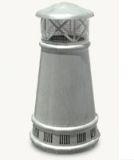European Bishop Round Freedom Gray Pot