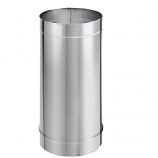 """6"""" DuraVent DuraBlack Stainless Steel Single-Wall Pipe, 48"""" Length"""