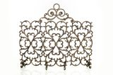 Artisan Cast Iron 3-Panel Scroll Screen with Arch- Bronze