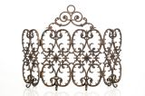 Artisan Cast Iron 4-Panel Florentine Screen with Arch-Bronze