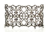 Artisan Cast Iron 2-Panel Classic Screen with Sides- Bronze
