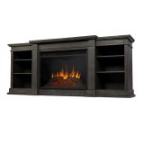 Eliot Grand Entertainment Unit with Electric Fireplace - Antique Gray
