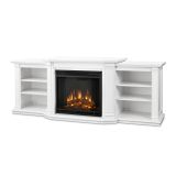 Valmont Entertainment Electric Fireplace - White