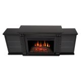 Tracey Grand Entertainment Unit with Electric Fireplace - Black
