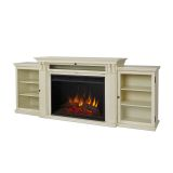 Tracey Grand Ent. Unit with Electric Fireplace - Distressed White