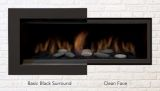 Clean Face Black Surround w/ Safety Barrier for Newcomb 36DV Fireplace