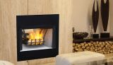 "Superior 36"" See-Thru Wood Burning Fireplace with White Stacked Liner"