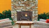 "Superior 32"" Full View Fireplace w/White Herringbone Refractory Panels"