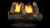 """24"""" Vintage Oak Fiber VF Gas Log Set w/VS1824 Manual Burner - NG"""