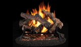 "Bridgeport Oak 24"" Vented Split Log Set w/PHK24 Match Lit Burner"