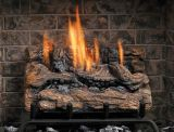 "24"" Vent Free Manual Valve Burner with 18"" Fiber Split Oak Logs - NG"