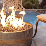 Rust Finish Wine Barrel Firepit