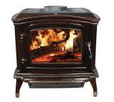Ashley EPA Certified Mahogany Enameled Porcelain Cast iron Wood Stove