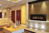 """60"""" Electric Fireplace w/ 10 Colors, Log and Crystals - Black"""
