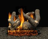 "18"" Bristol Split Logs with Double Manual Safety Pilot Burner Tube - LP"