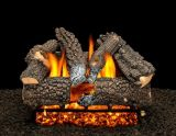 "18"" Aspen Whisper Logs with Double Burner and Variable Flame Remote, LP"