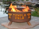 Patina F473 Temple Owls Fire Pit