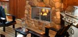 """36"""" Outdoor Villa Gas Fireplace w/Traditional Refractory"""