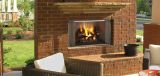 """36"""" Outdoor Villawood Wood Fireplace w/Traditional Refractory"""
