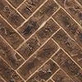 "42"" Herringbone Brick Interior Panels - Tavern Brown"