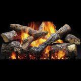 "3 Tier 24"" Fireside Grand Oak Gas Log Set w/IPI Hearth Kit - NG"