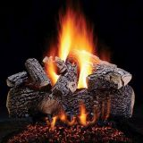 """18"""" Prestige Highland Oak Logs w/Elec. Variable Ignition Burner - LP"""