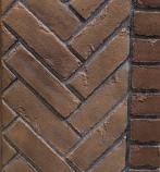 Vintage Brown Herringbone Firebrick Walls - for the MLDV500 Series