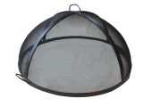"24"" Welded HYBRID Steel Lift Off Dome Fire Pit Safety Screen"