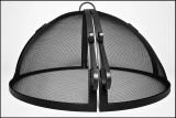 "24"" Welded HYBRID Steel Hinged Round Fire Pit Safety Screen"
