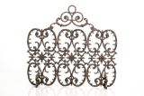 Artisan Cast Iron 3-Panel Florentine Screen with Arch- Bronze