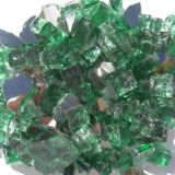 """Tretco 1496-5 Forest Green Reflective Fire Glass Crystals - 1/2"""""""