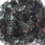 "Tretco 1591-5 Black Reflective Fire Glass Crystals - 1/2"""