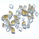 "Tretco 1599-1 Golden Reflective Arctic Flame Glass - 1/4"""