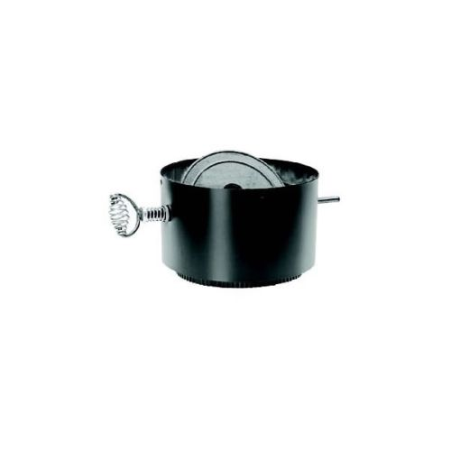 "DuraVent 7"" DuraBlack Stove Pipe Adaptor with Damper Section"