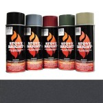 Charcoal - 1200 Degree Wood Stove High Temp Paint -