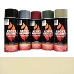 Almond - 1200 Degree Wood Stove High Temp Paint -