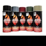 Flat Black - 1200 Degree Wood Stove High Temp Paint -