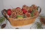 Cone Starters In Oval Wood Basket